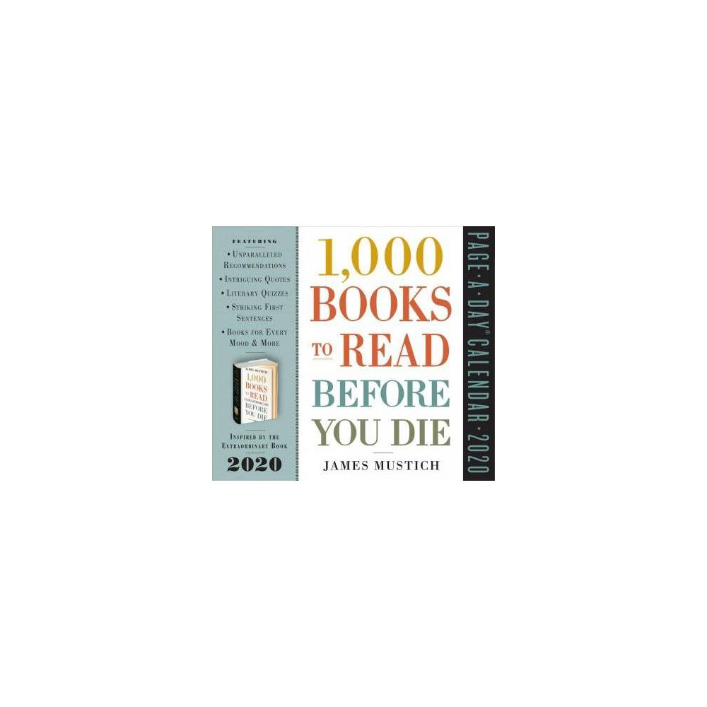 1000 Books to Read Before You Die 2020 Calendar - by James Mustich (Paperback)