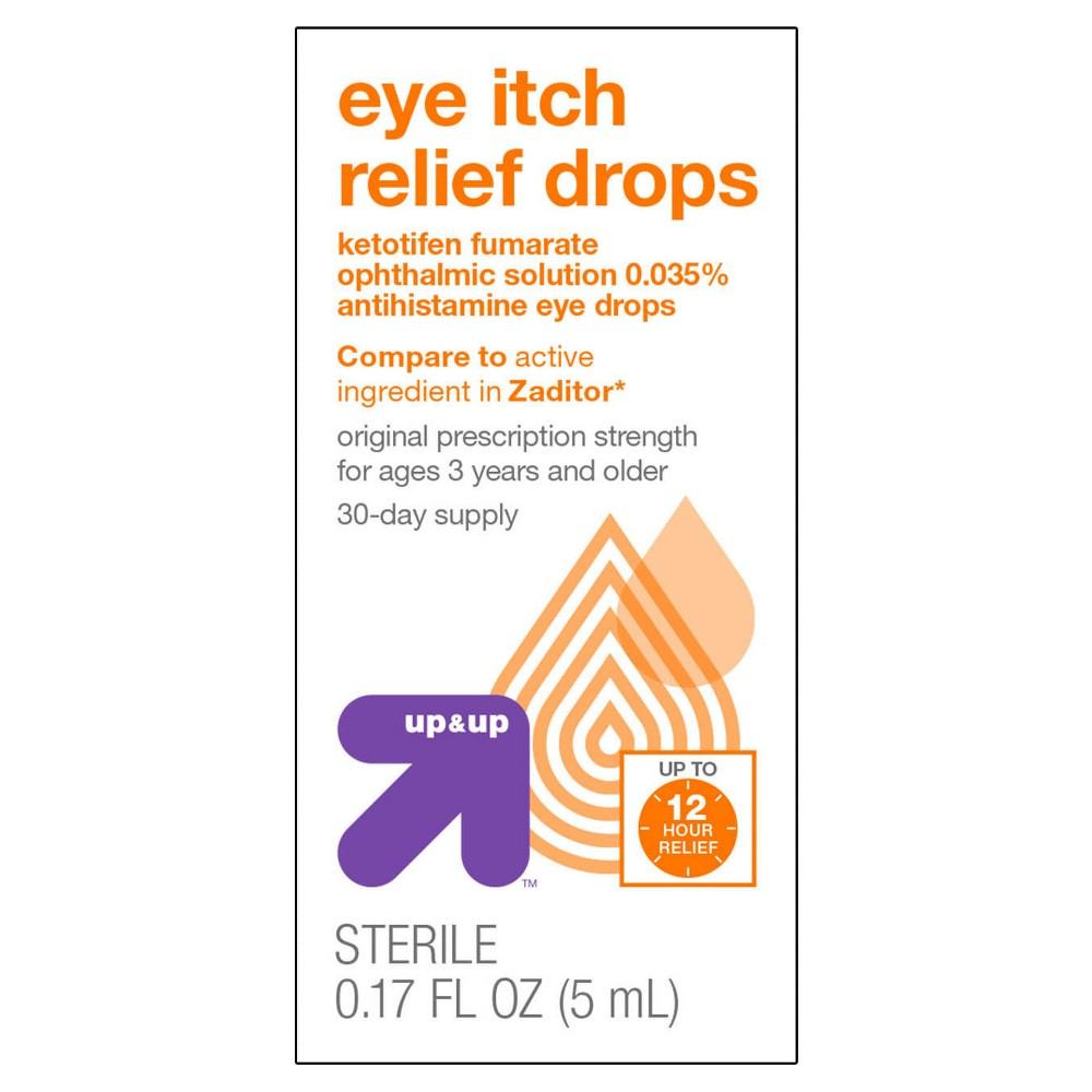 Eye Itch Relief Drops - 0.17 fl oz - Up&Up (Compare to active ingredient in Zaditor)