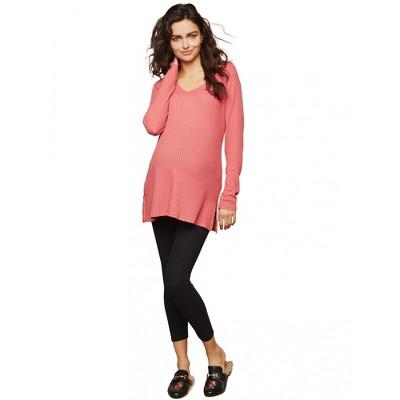 Motherhood Maternity | Basic Secret Fit Belly Maternity Crop Leggings