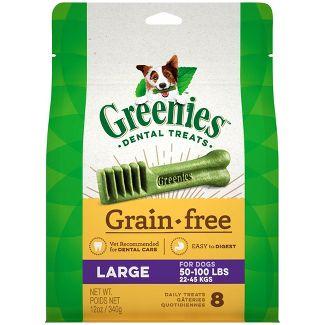 Greenies Large Grain-Free Dental Dog Treats - 8ct/12oz