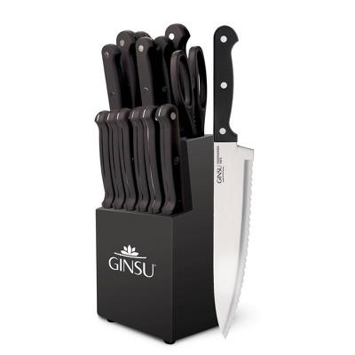 Ginsu Kiso Dishwasher Safe 14pc Knife Block Set Black