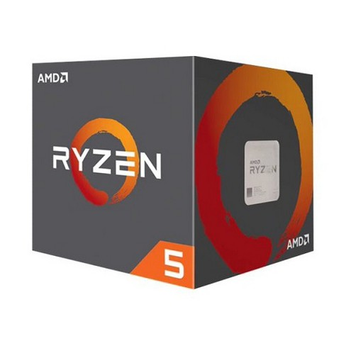 AMD Ryzen 5-1600 Unlocked Desktop Processor w/ Wraith Stealth Cooler - 6 Cores & 12 Threads - Up to 3.6 GHz CPU Speed - AMD SenseMI Technology - image 1 of 2