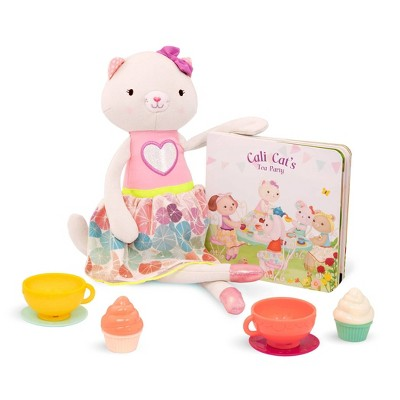 B. toys Plush Cat, Board Book & Tea Set - Tippy Toes Cali Cat