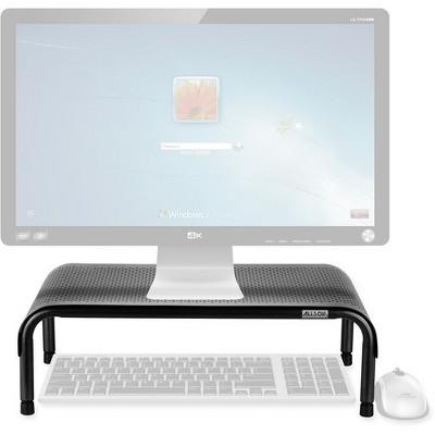 "Allsop Metal Art Ergo3 Adjustable Monitor Stand - 35 lb Load Capacity - 8"" Height x 18"" Width x 10"" Depth - Metal"