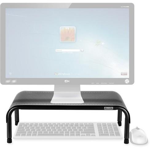 "Allsop Metal Art Ergo3 Adjustable Monitor Stand - 35 lb Load Capacity - 8"" Height x 18"" Width x 10"" Depth - Metal - image 1 of 4"