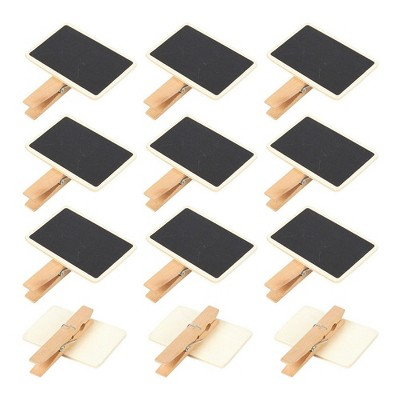 Juvale 12-Pack Black Mini Wooden Clothespins Blackboard Clips Chalkboard Tag Signs Message Board 2.6 x 2.3