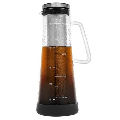 JoyJolt Fresco Airtight Cold Brew Iced Coffee Maker - 32 oz Tea Maker with Non-Slip Silicone Base