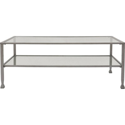 Maddox Glass and Metal Coffee Table - ClickDecor