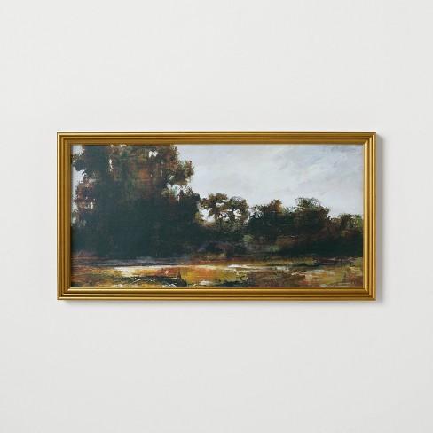 "13.9"" x 25.4"" Horizontal Landscape Framed Canvas - Threshold™ designed with Studio McGee - image 1 of 4"