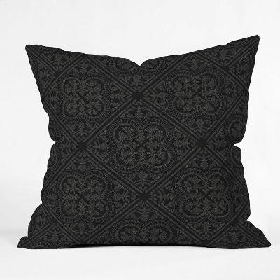 "16""x16"" Iveta Abolina Anissa Night Throw Pillow Black - Deny Designs"