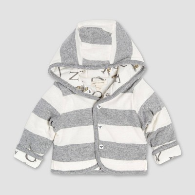 Burt's Bees Baby® Bee Reversible Organic Cotton Puffer Jacket - Gray 3-6M