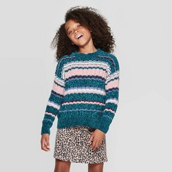 Girls' Long Sleeve Chenille Sweater - art class™