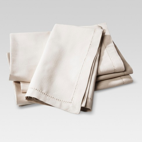 Napkins Set of 4 Neutral - Threshold™ - image 1 of 1