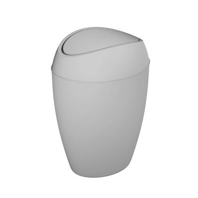 Umbra 2.2gal Twirla Indoor Trash Can Metallic Gray