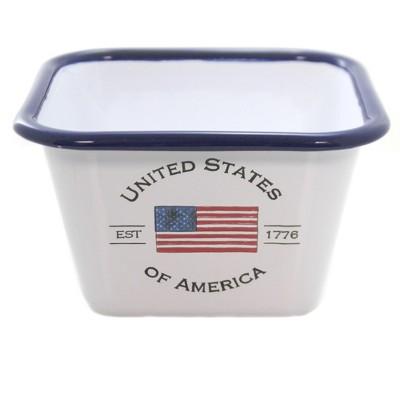 "Tabletop 3.25"" Usa Enamelware Bowl United States America Boston International  -  Serving Bowls"