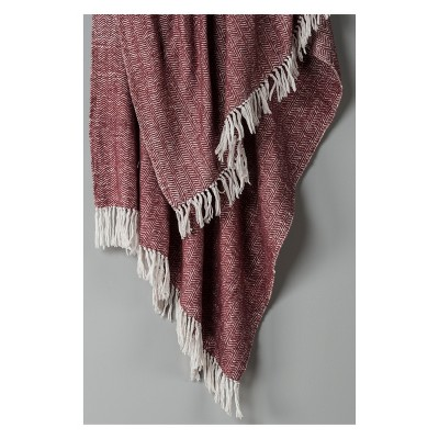 Throw Blankets 40 X60  Raisin - Rizzy Home