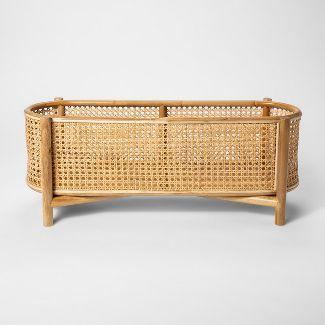 27.9u0022 x 7.9u0022 Decorative Rattan Cane Plant Stand Brown - Project 62™