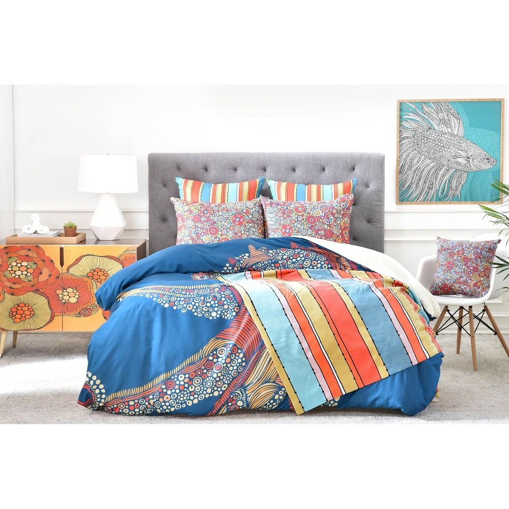 Valentina Ramos Octopus Duvet Cover (King) Blue - Deny Designs, Multicolored Blue