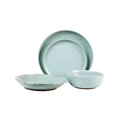 16pc Stoneware Kaya Dinnerware Set Blue - Sango