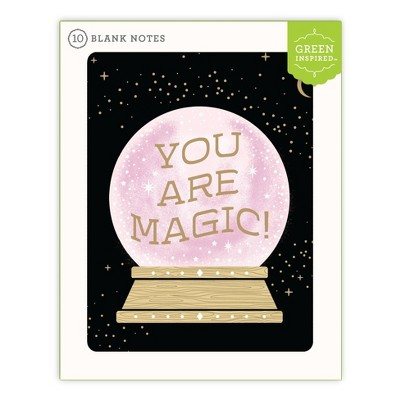 10ct Blank Note Cards Crystal Ball