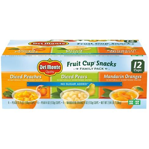 Del Monte Diced Peaches Diced Pears & Mandarin Oranges Fruit Cups - 4oz/12ct - image 1 of 3