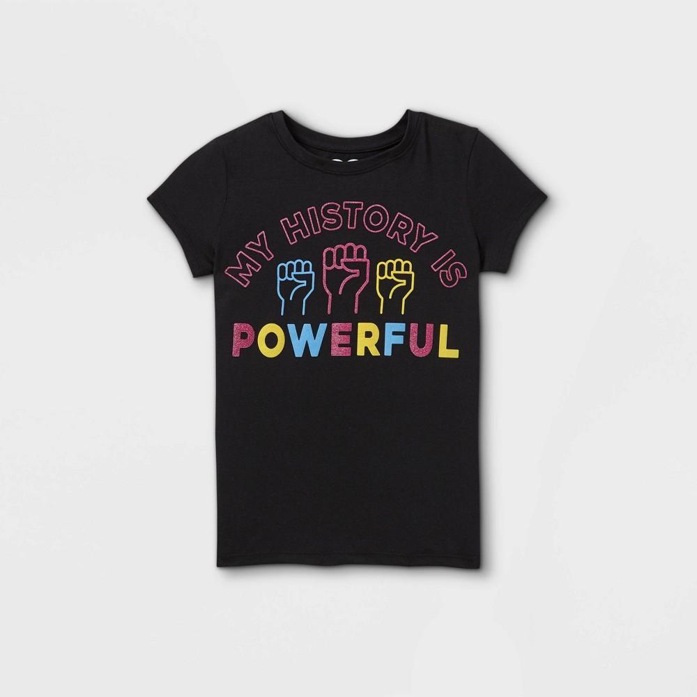 Girls 39 39 My History Is Powerful 39 Short Sleeve T Shirt Black Xs
