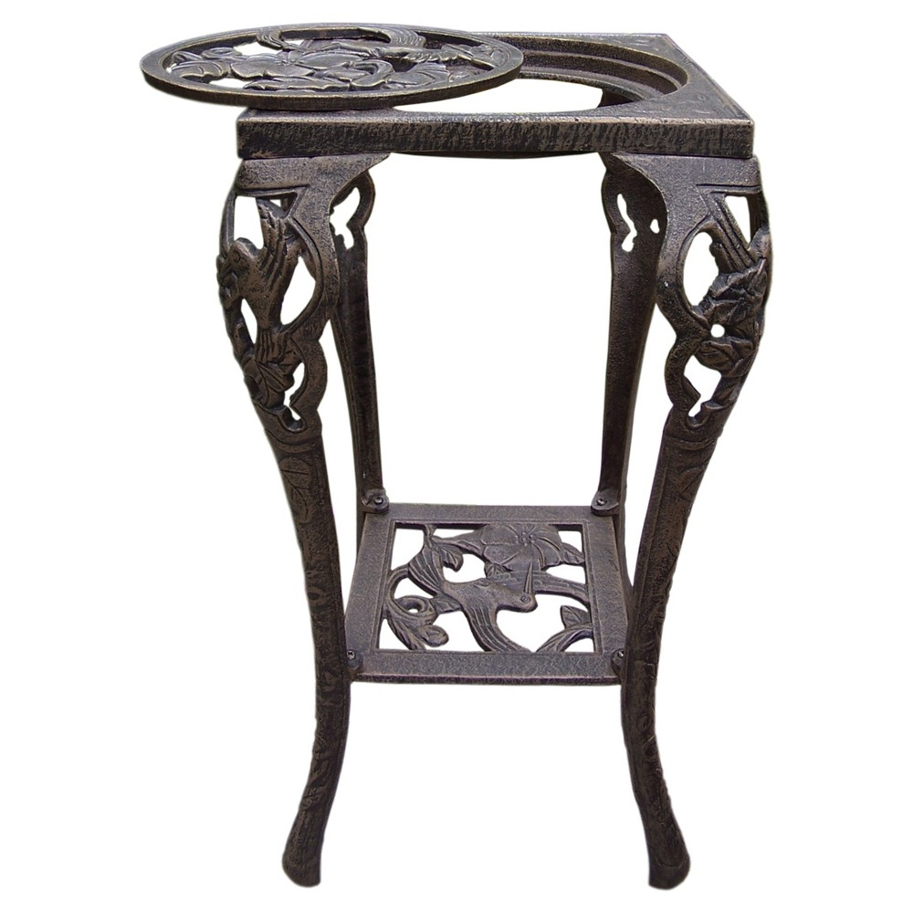 """Image of """"14"""""""" Square Oakland Plant Stand - Bronze"""""""