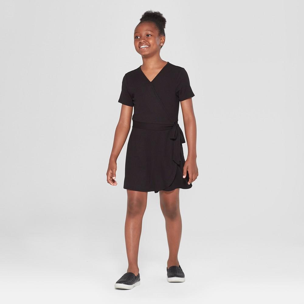 Girls' V-Neck Romper - art class Black L