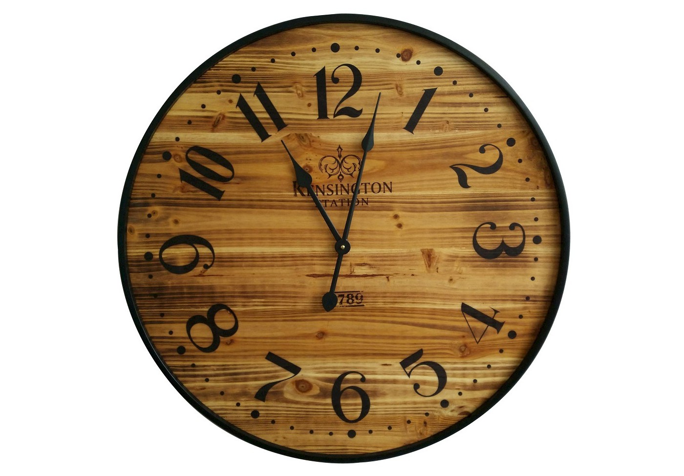 "Wood 26"" Wall Clock Pine Finish/Black - Threshold™ - image 1 of 2"