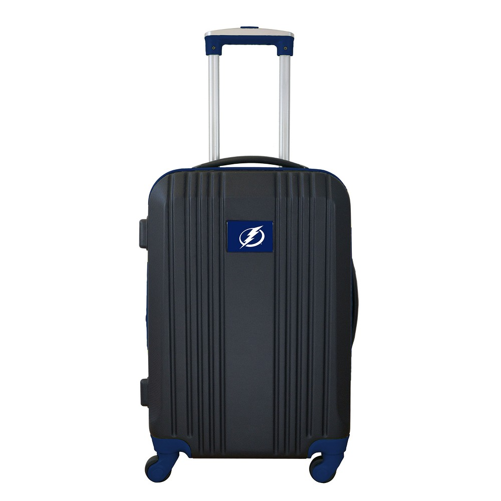 NHL Tampa Bay Lightning 21 Hardcase Two-Tone Spinner Carry On Suitcase