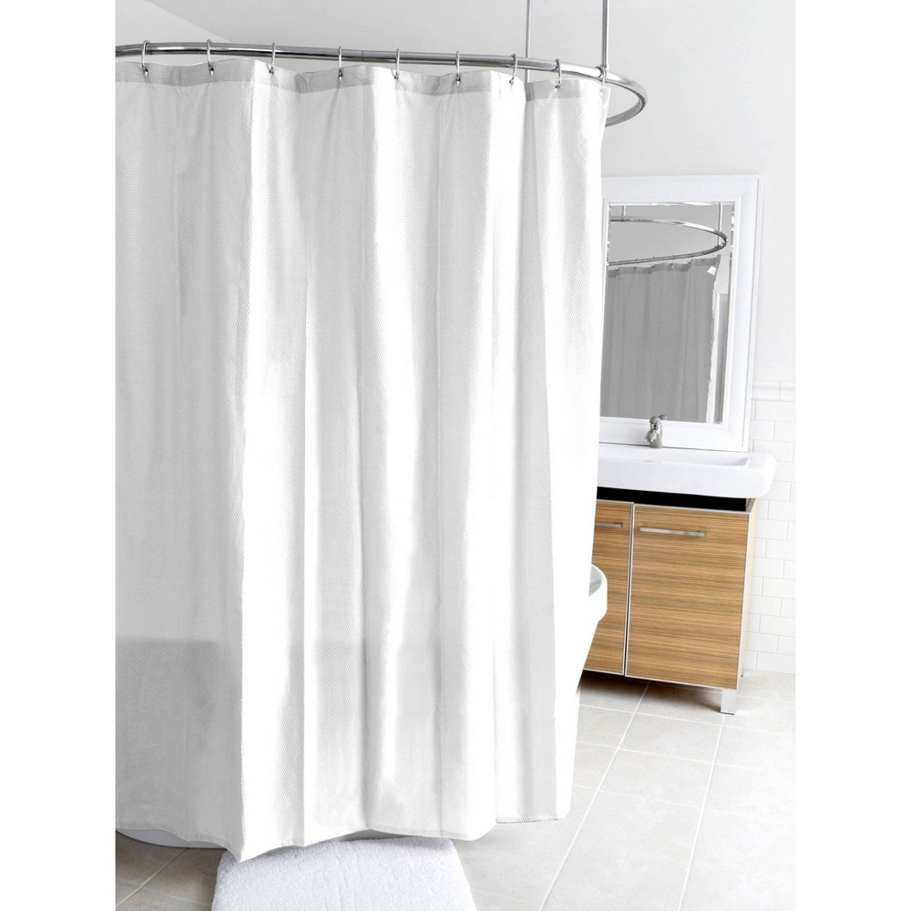 Image of Olivia Microfiber Fabric Liner & Hooks Set White - Splash