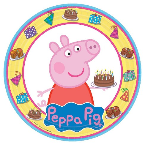8 ct Peppa Pig Paper Dinner Plates - image 1 of 1