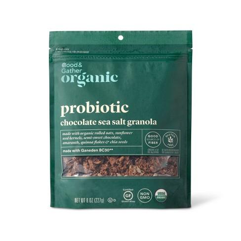 Chocolate Sea Salt Probiotic Granola - 8oz - Good & Gather™ - image 1 of 2