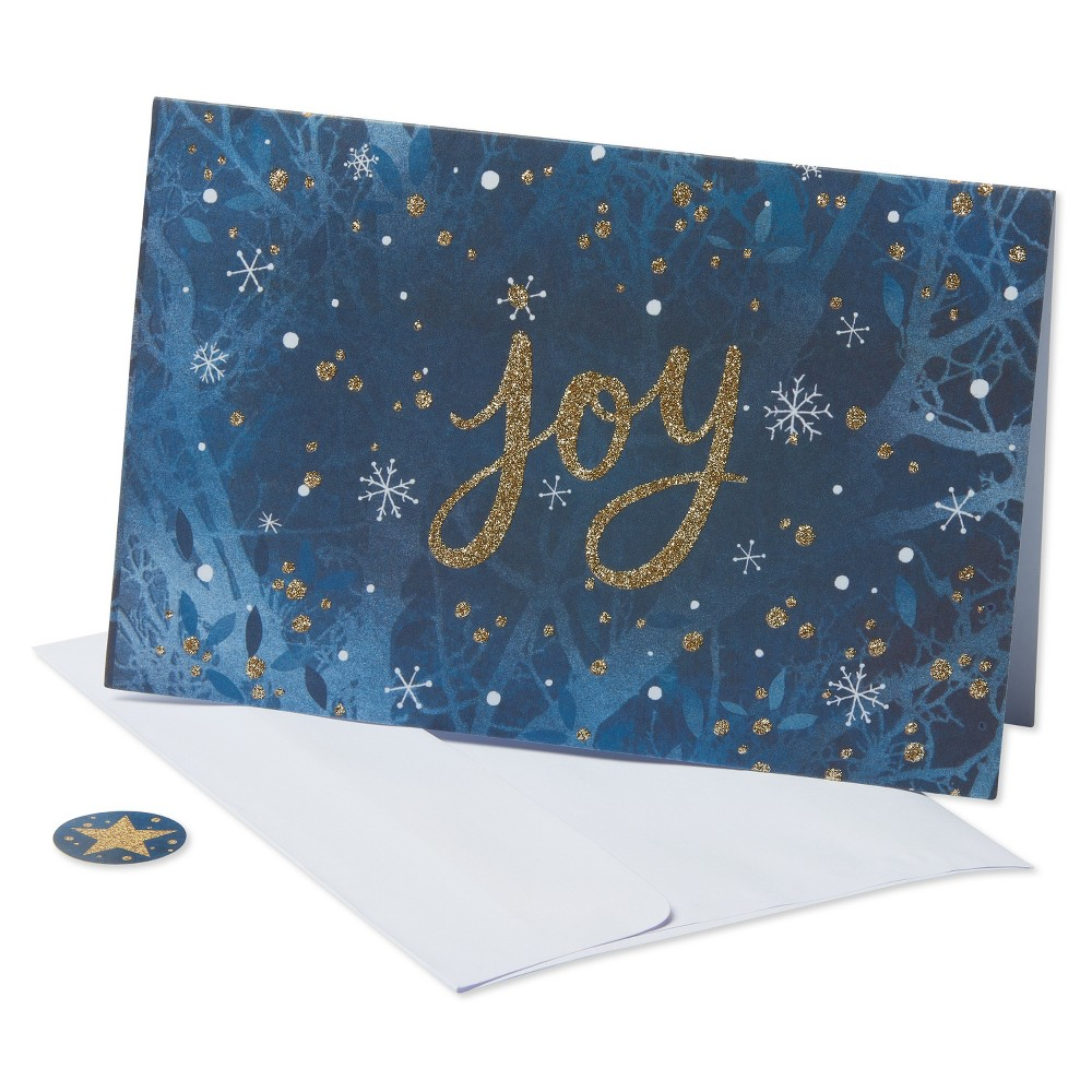 40ct American Greetings Joy Holiday Boxed Cards, Multi-Colored
