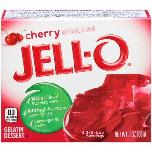 Jell-O Cherry Gelatin - 3oz - image 1 of 4