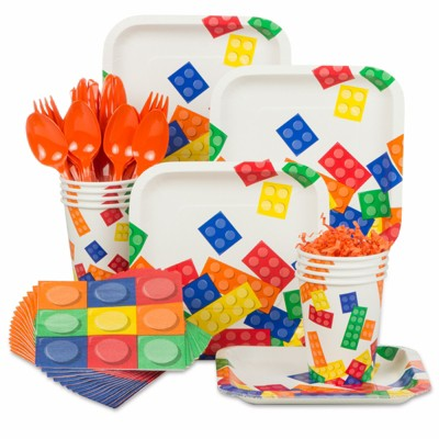 Birthday Express Block Party Birthday Standard Kit - Serves 8 Guests