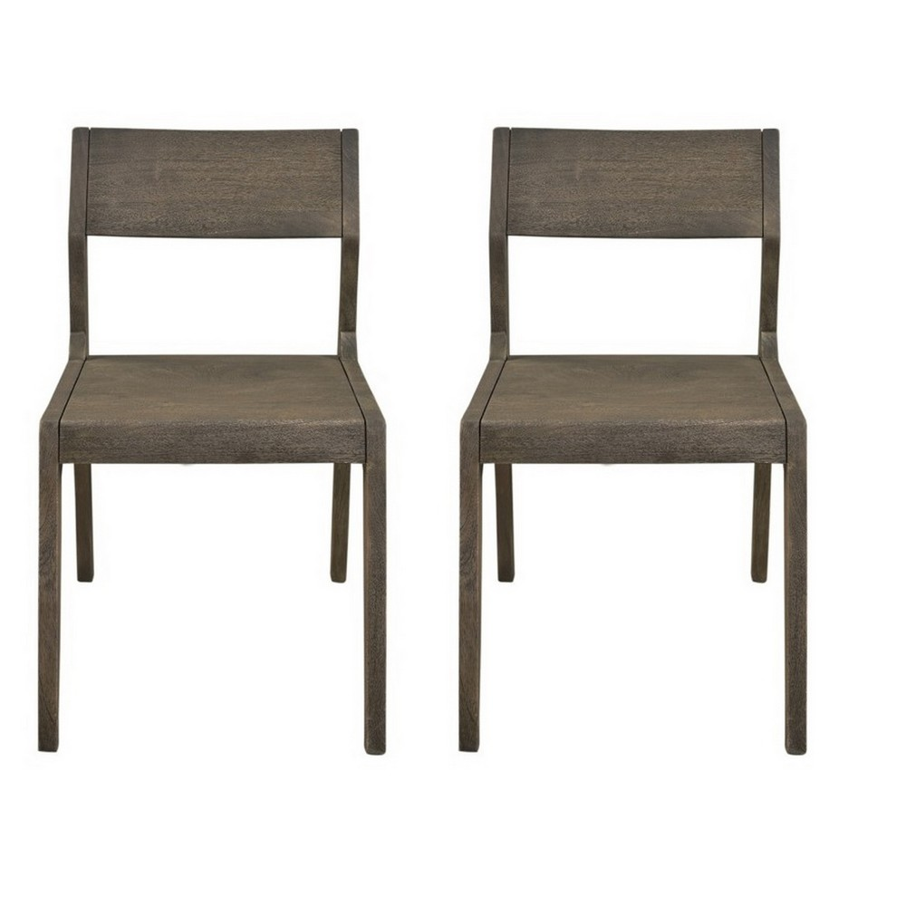 Tundra Dining Chairs - Smokey Grey (Set of 2) - Christopher Knight Home, Gray