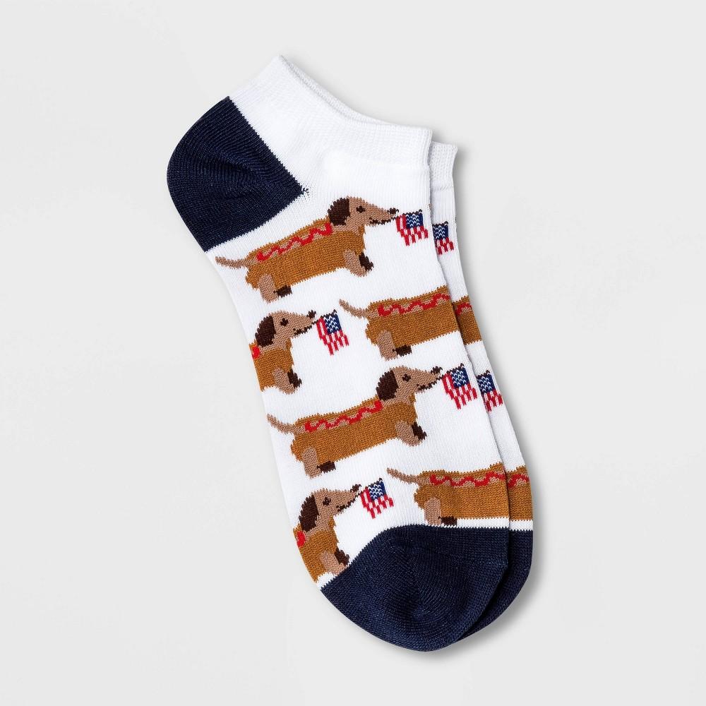 Women 39 S Hot Dog Dachshund Low Cut Socks White 4 10