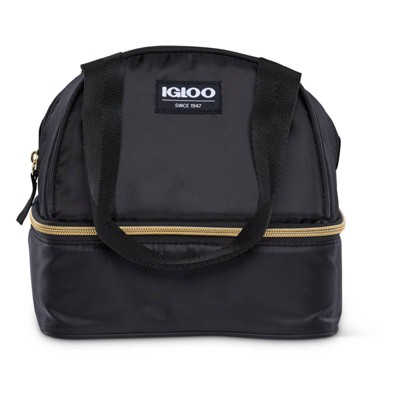 Igloo Sport Luxe Mini Dual Compartment Lunch Bag - Black/Gold