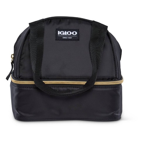 Igloo Sport Luxe Mini Dual Compartment Lunch Bag - Black/Gold - image 1 of 4