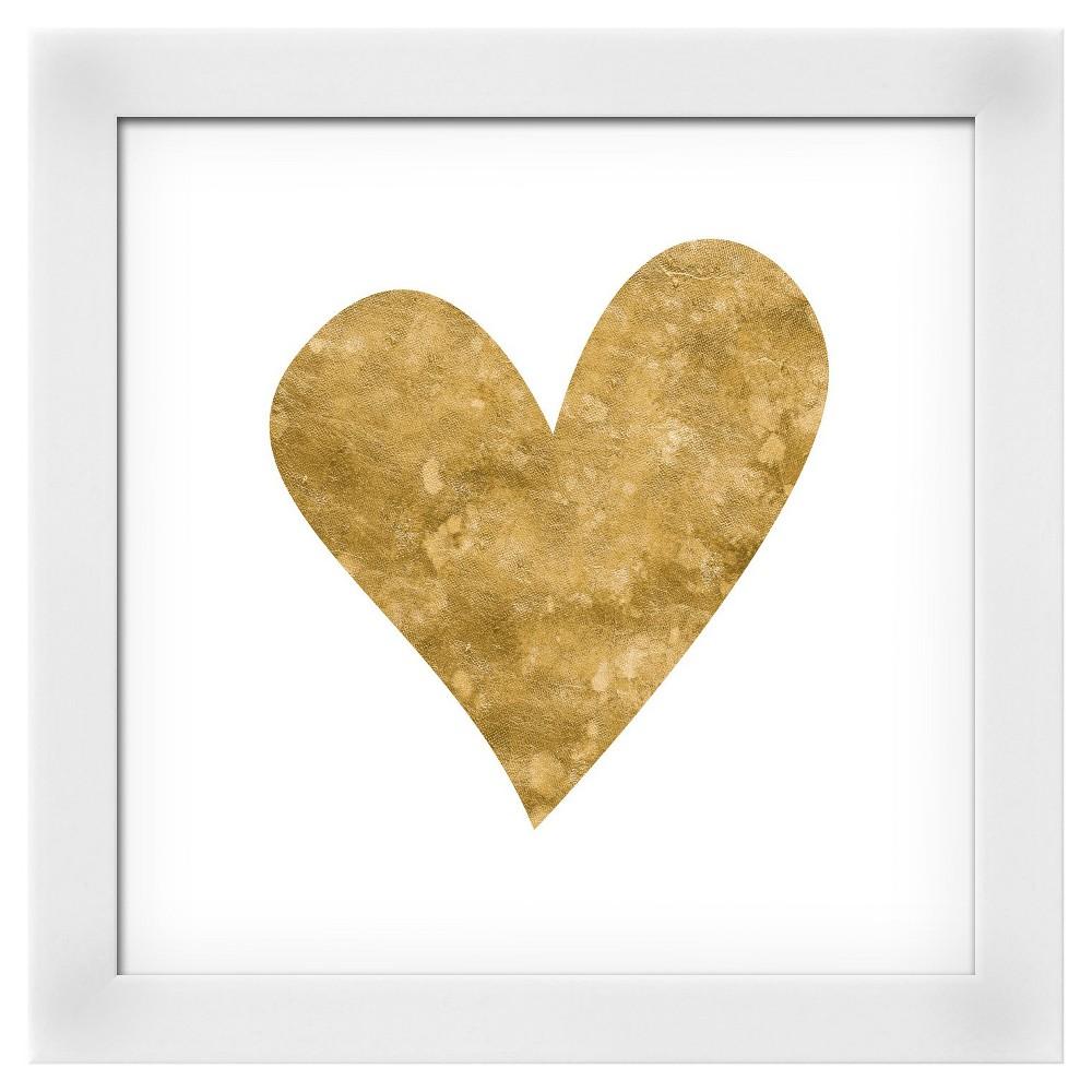 Romantic Icon Iii (gold foil) White Wood Framed Art Print