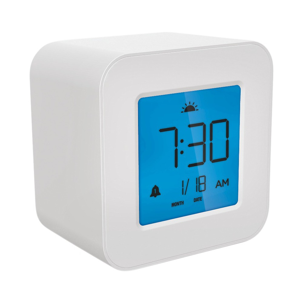Image of Compact Digital Alarm Clock White - Capello