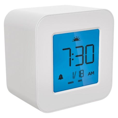 compact digital alarm clock white capello target