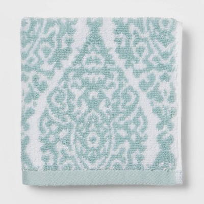 Performance Washcloth Aqua Ogee - Threshold™