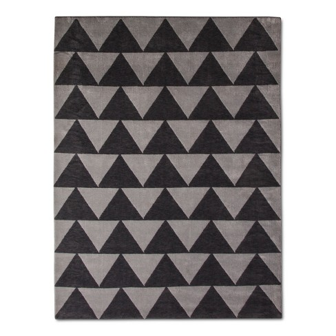 Gray Plush Triangles Area Rug - Pillowfort™ - image 1 of 2