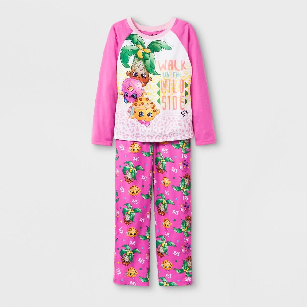 Girls' Shopkins 2pc Pajama Set - Pink 10, Multicolored