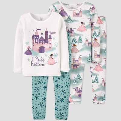 Baby Girls' 4pc Princess Pajama Set - Just One You® made by carter's 9M
