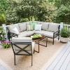 Blakely 5pc Patio Seating Set with Sunbrella Fabric - Tan - Leisure Made - image 5 of 7