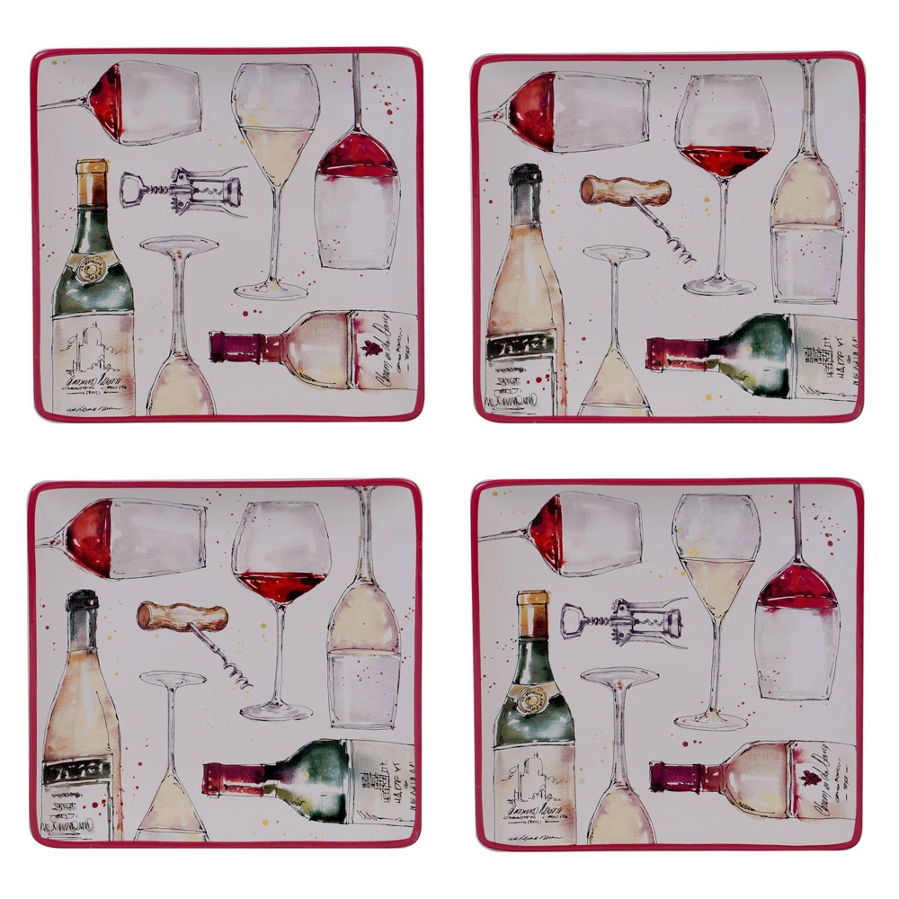"""Image of """"10.5"""""""" 4pk Earthenware Napa Assorted Dinner Plates - Certified International"""""""