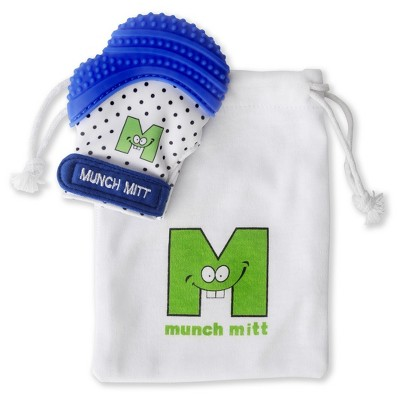 Malarkey Kids Munch Mitt Teether with Wash/Travel Bag - Blue